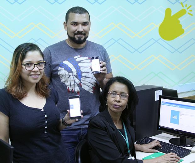 Com idades e perfis diferentes, Julia Pitanga, Tiago Oliveira e Elenita Leão mostram ter mais em comum do que o fato de serem servidores.